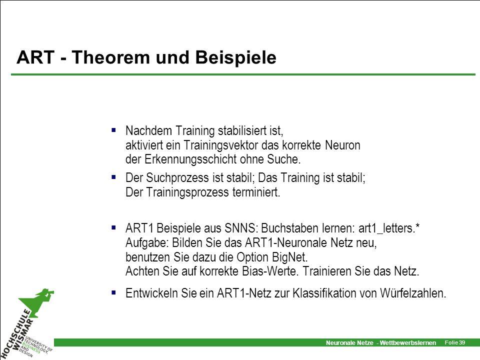 ART - Theorem und Beispiele