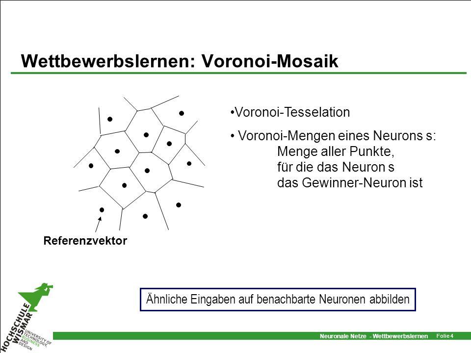 Wettbewerbslernen: Voronoi-Mosaik