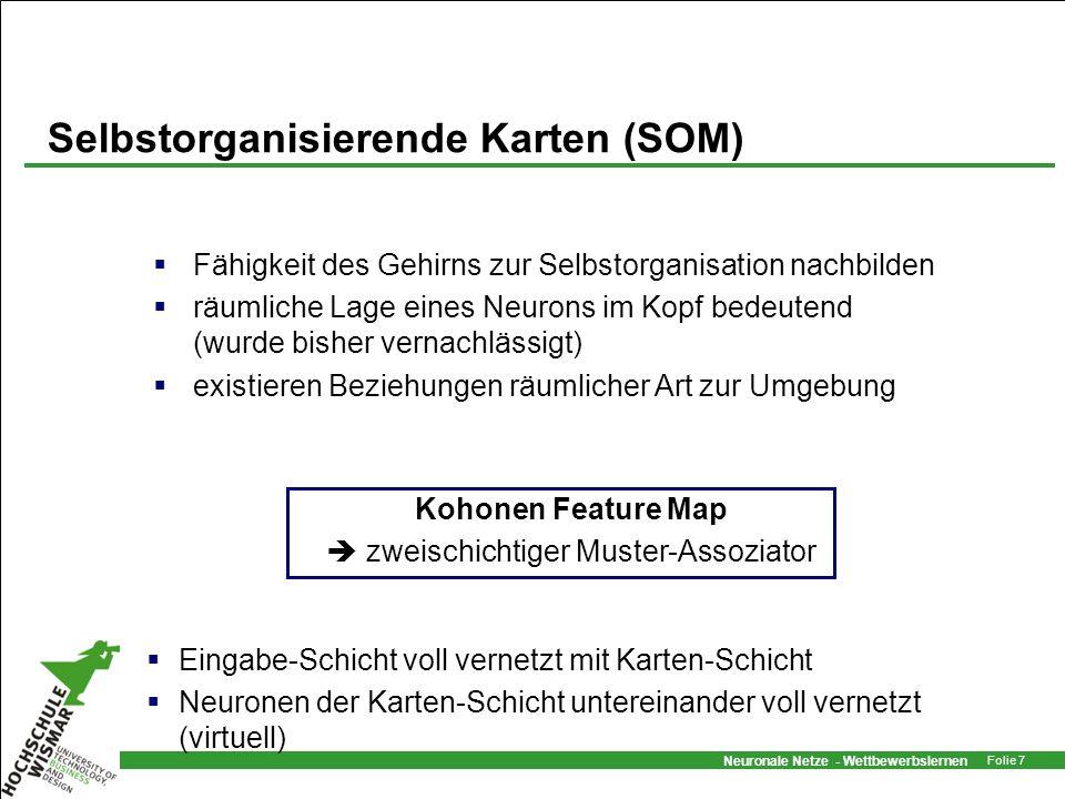 Selbstorganisierende Karten (SOM)