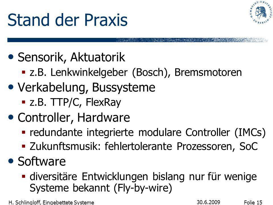 Stand der Praxis Sensorik, Aktuatorik Verkabelung, Bussysteme