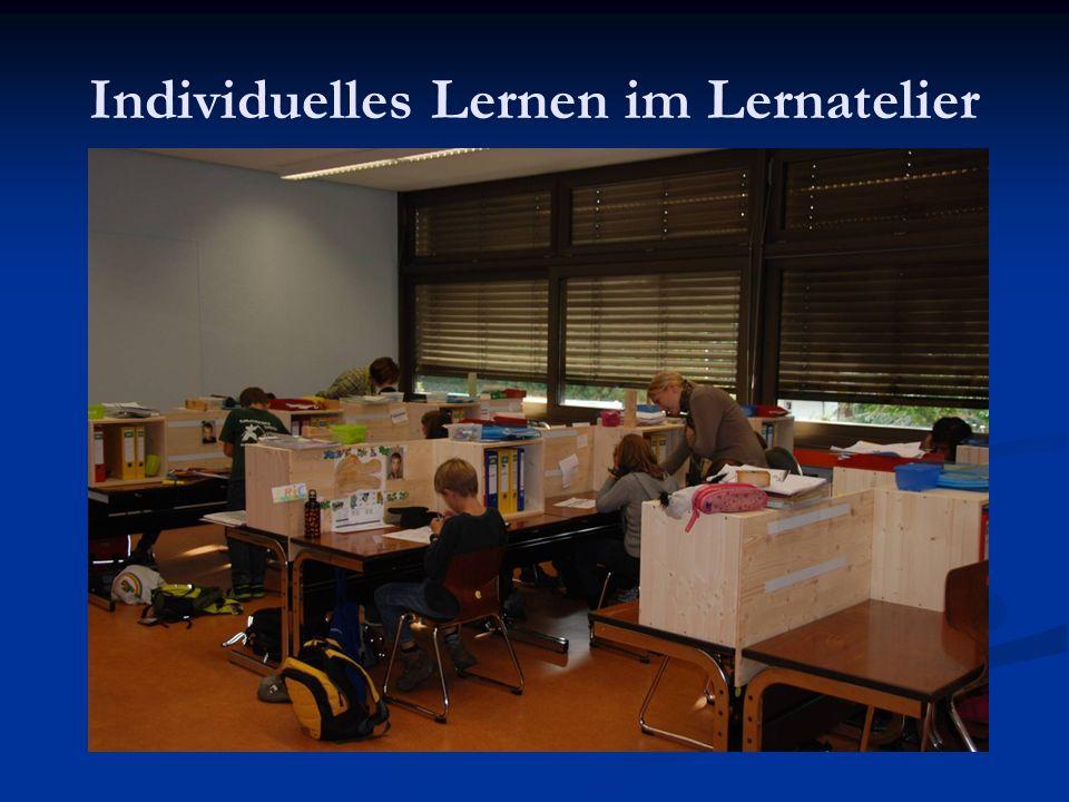 Individuelles Lernen im Lernatelier