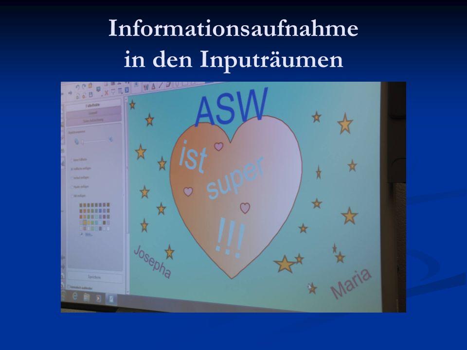 Informationsaufnahme in den Inputräumen