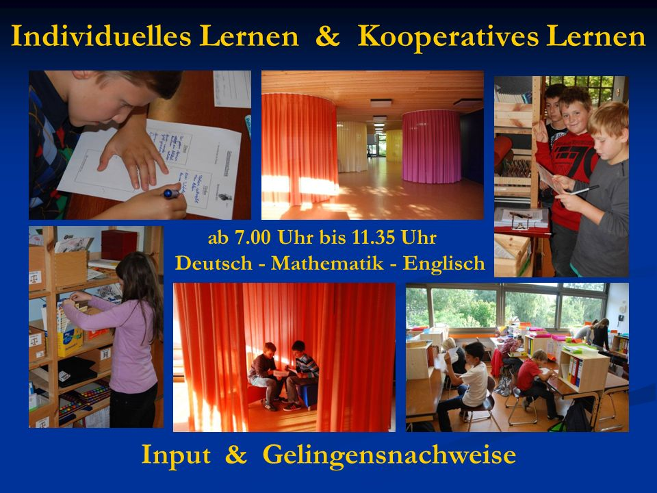 Individuelles Lernen & Kooperatives Lernen