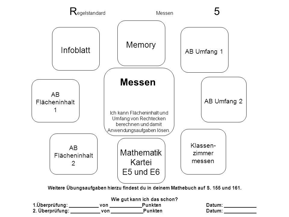 Regelstandard Messen 5 Messen Memory Infoblatt Mathematik Kartei