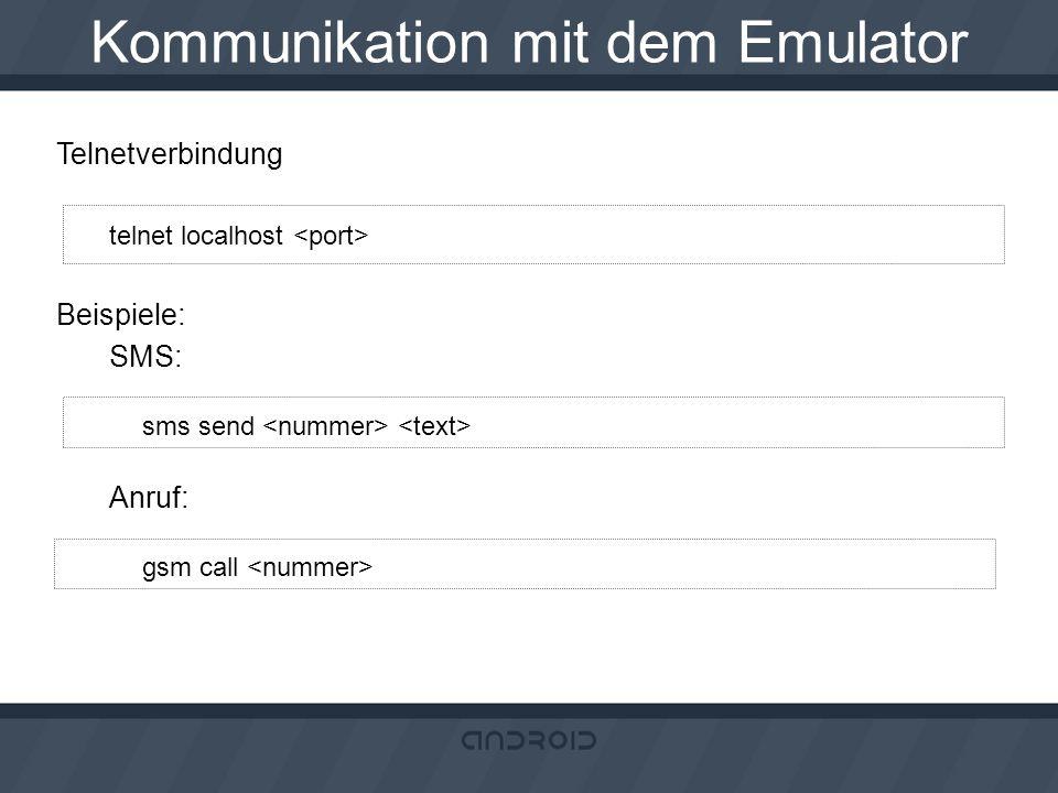 Kommunikation mit dem Emulator