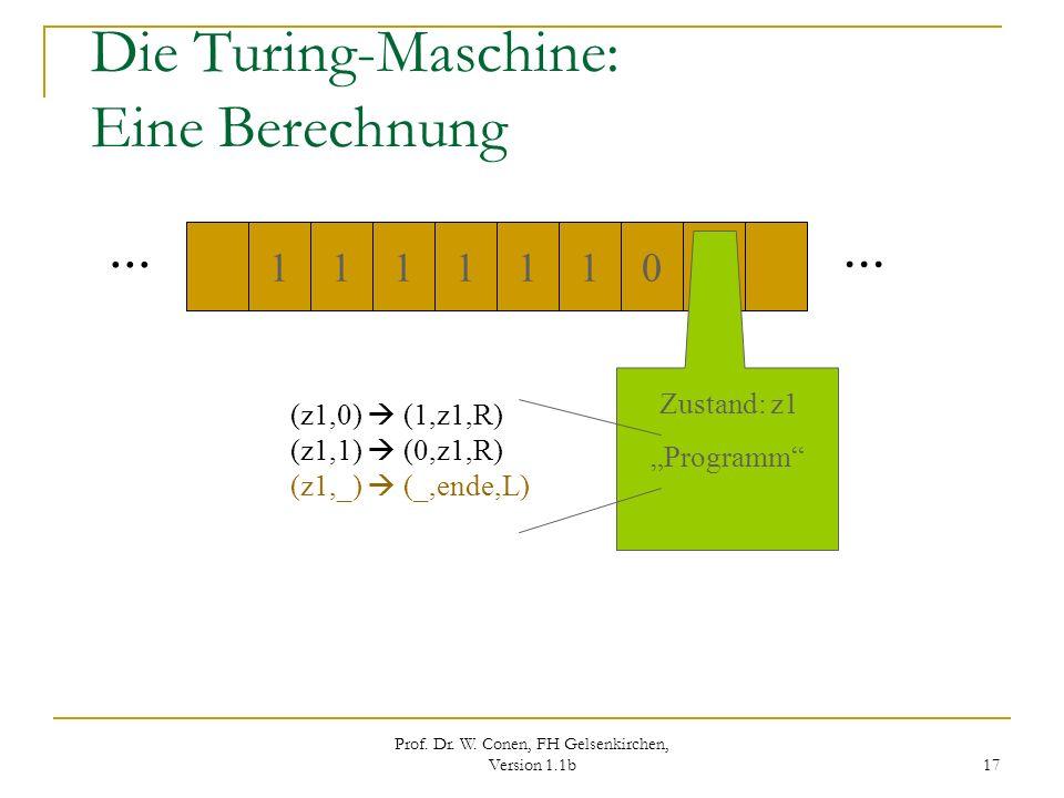 Die Turing-Maschine: Eine Berechnung