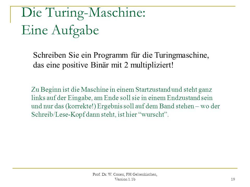 Die Turing-Maschine: Eine Aufgabe