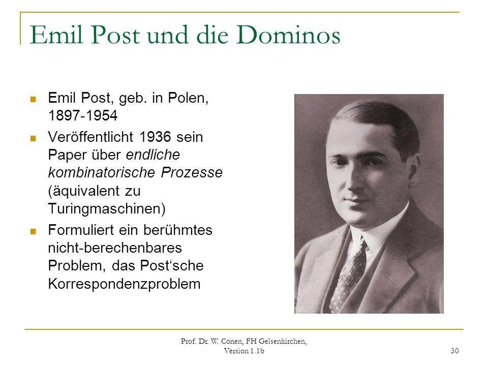 Emil Post und die Dominos