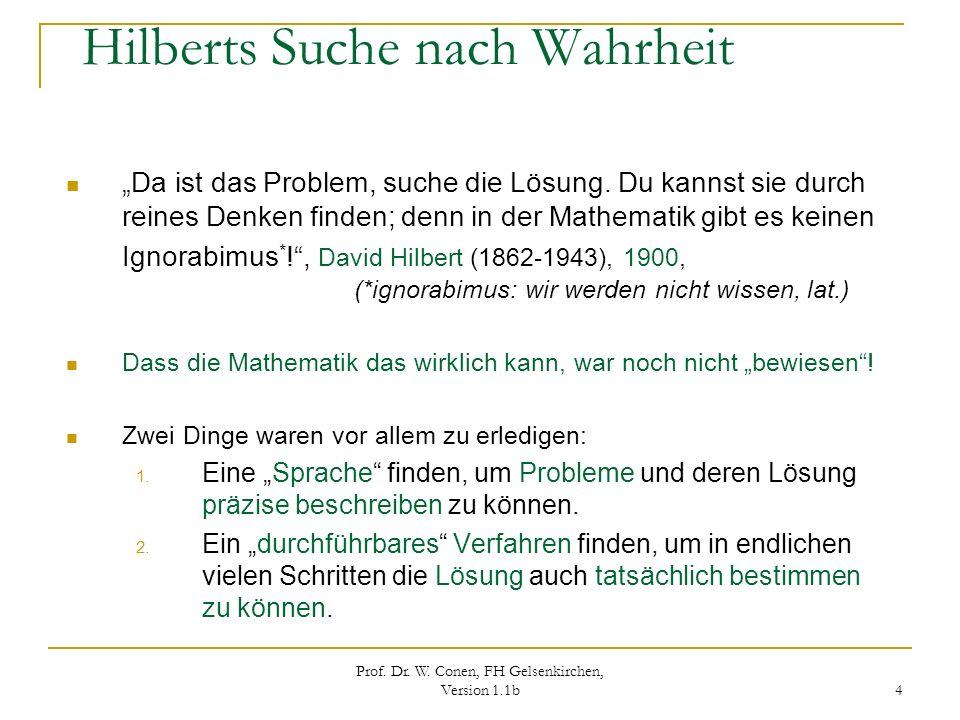 Hilberts Suche nach Wahrheit