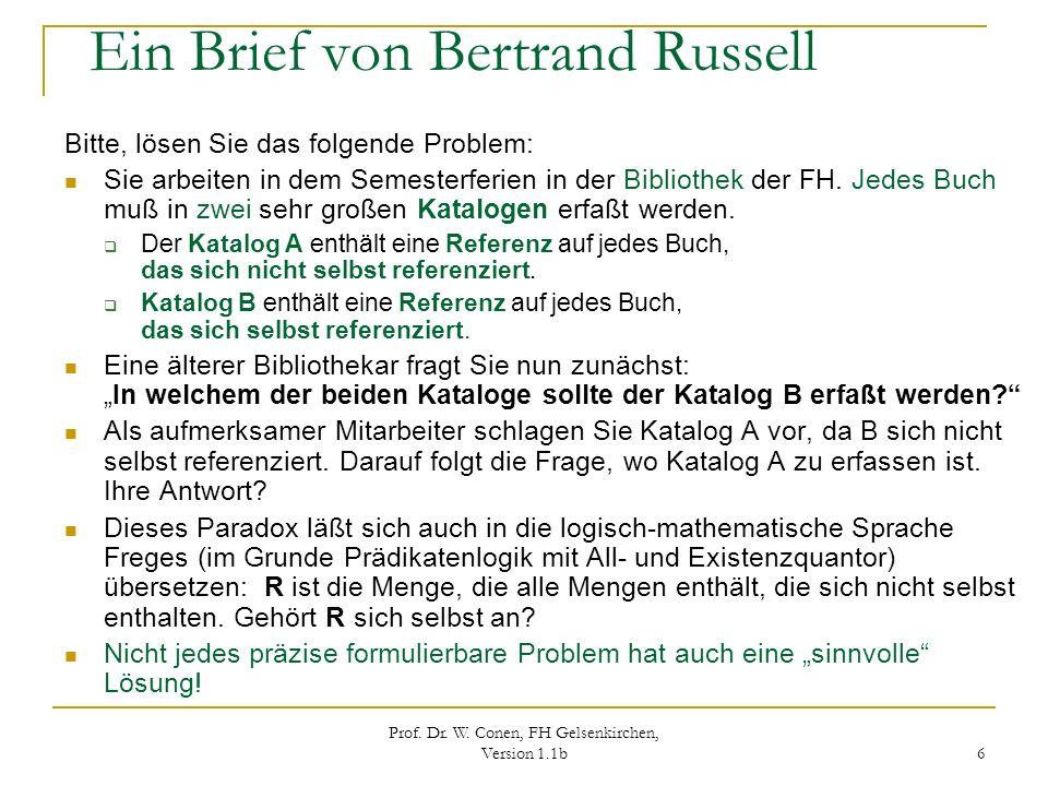 Ein Brief von Bertrand Russell