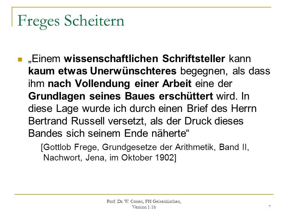 Prof. Dr. W. Conen, FH Gelsenkirchen, Version 1.1b