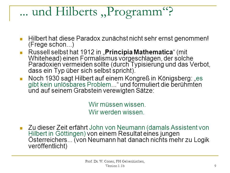 """... und Hilberts """"Programm"""