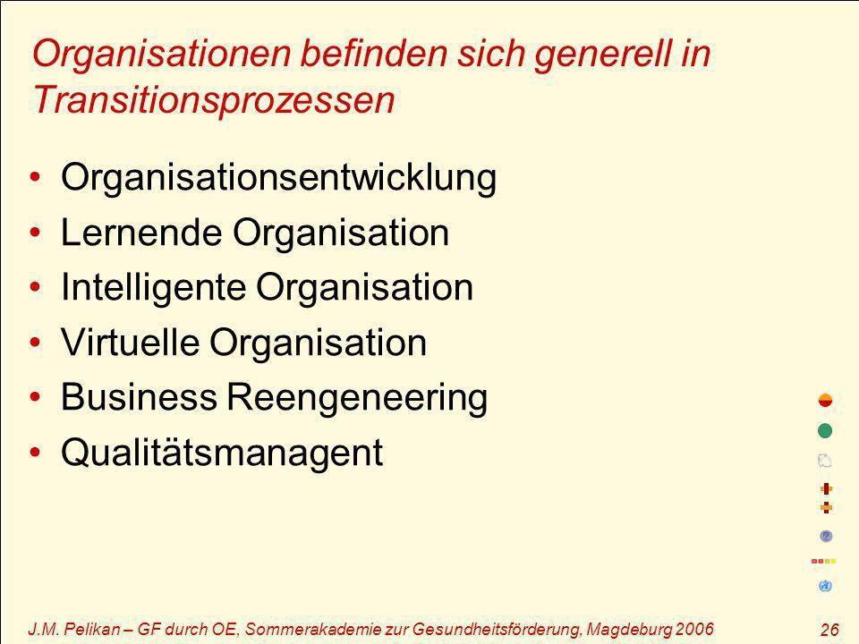 Organisationen befinden sich generell in Transitionsprozessen