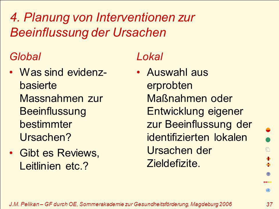 4. Planung von Interventionen zur Beeinflussung der Ursachen