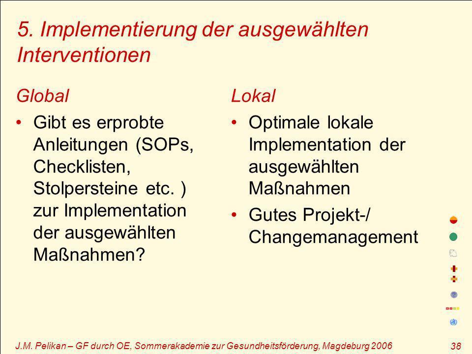 5. Implementierung der ausgewählten Interventionen