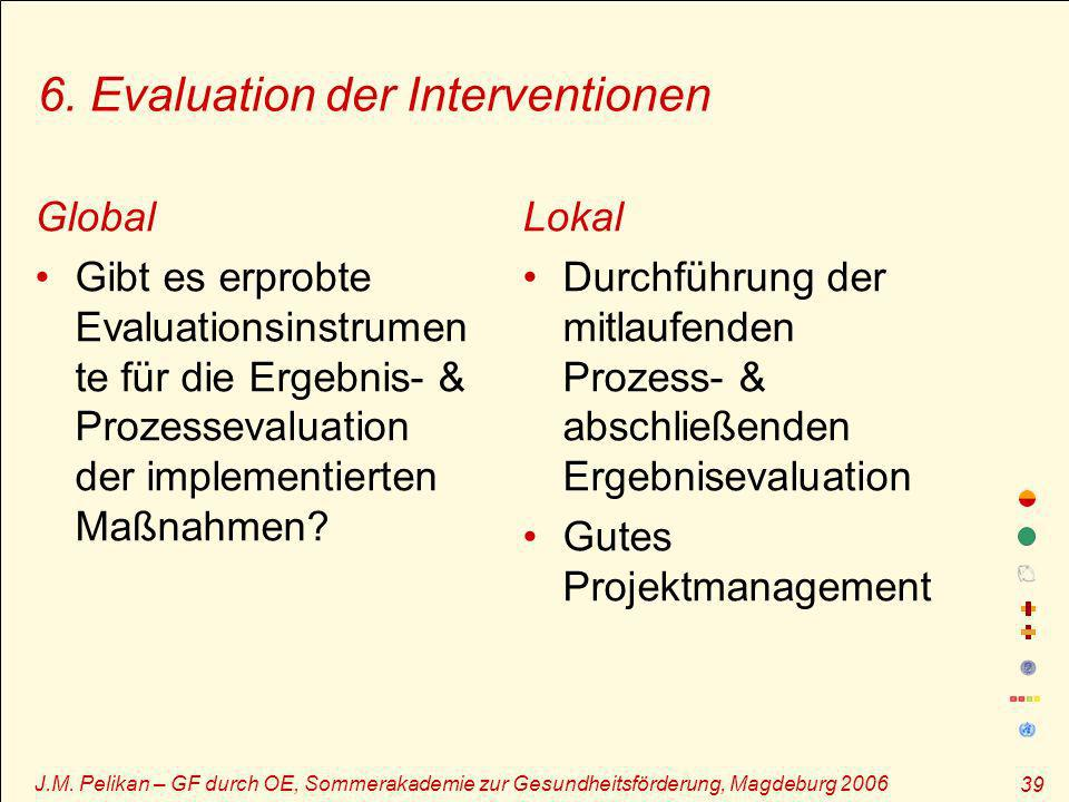 6. Evaluation der Interventionen