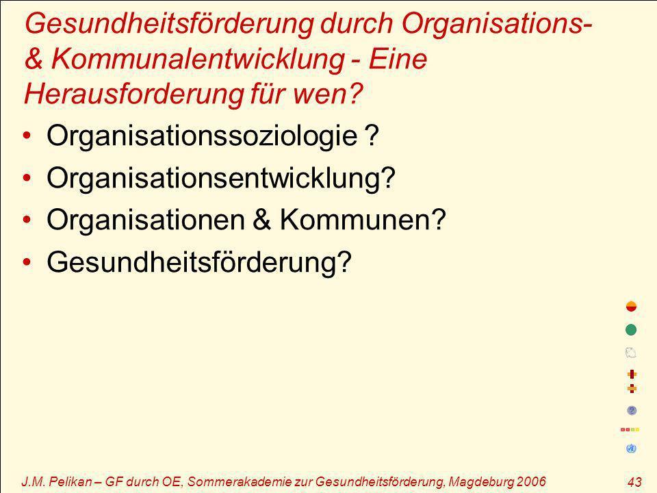 Organisationssoziologie Organisationsentwicklung