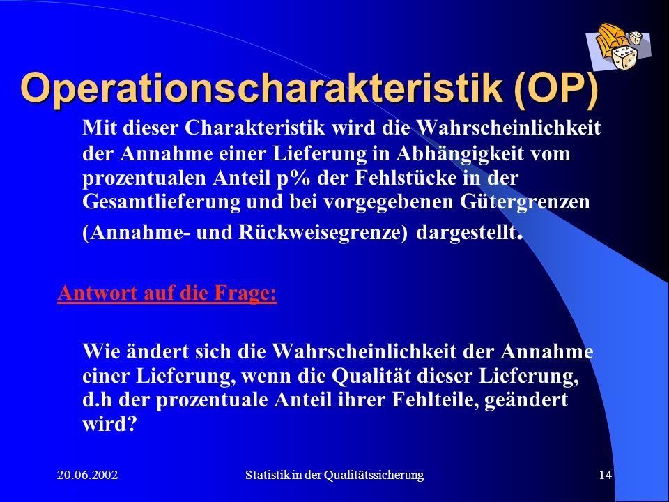 Operationscharakteristik (OP)