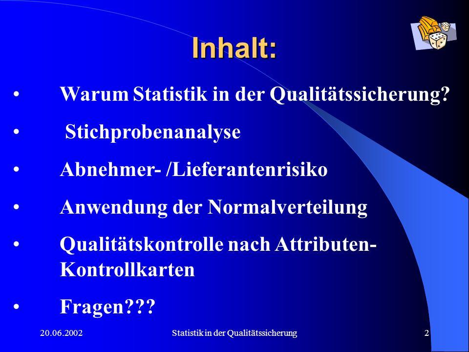Statistik in der Qualitätssicherung