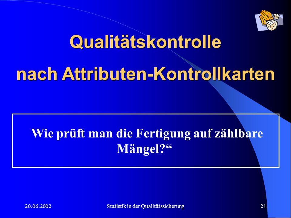 Qualitätskontrolle nach Attributen-Kontrollkarten