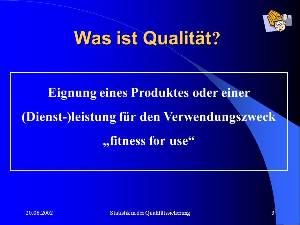 Was ist Qualität Eignung eines Produktes oder einer