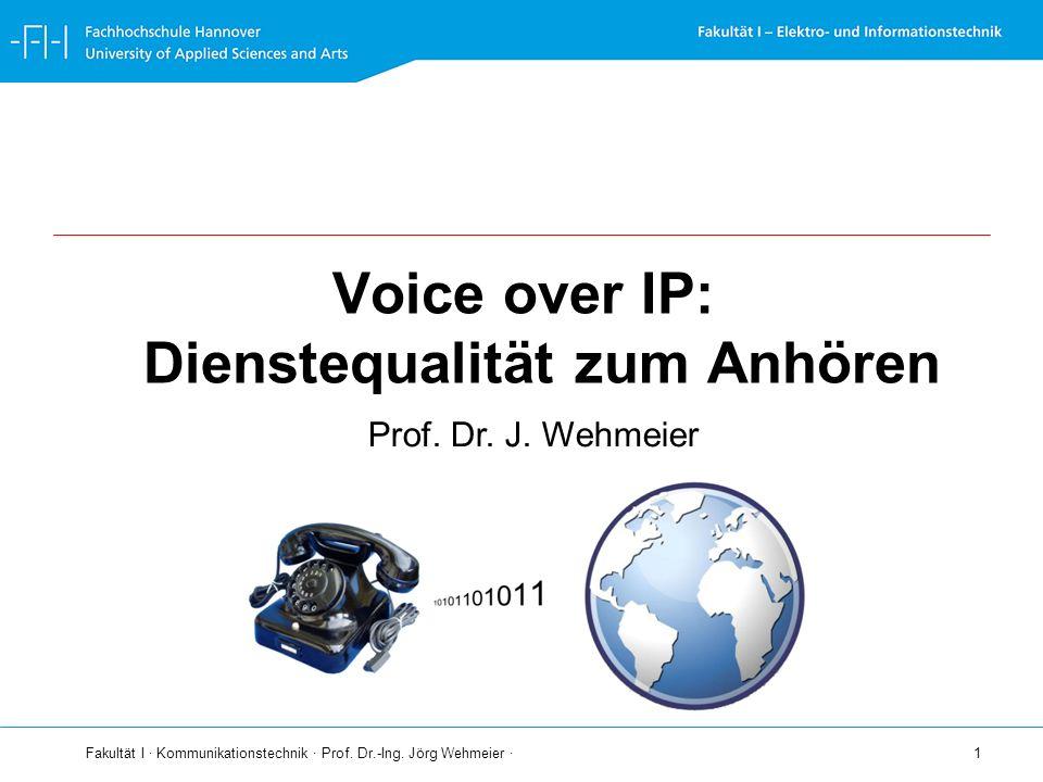 Voice over IP: Dienstequalität zum Anhören
