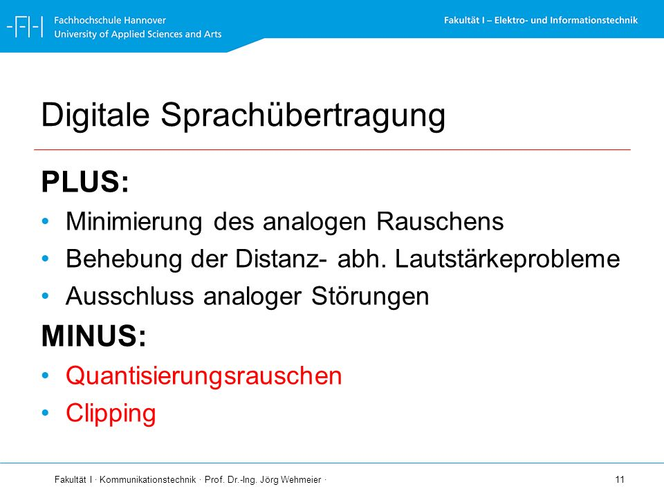 Digitale Sprachübertragung
