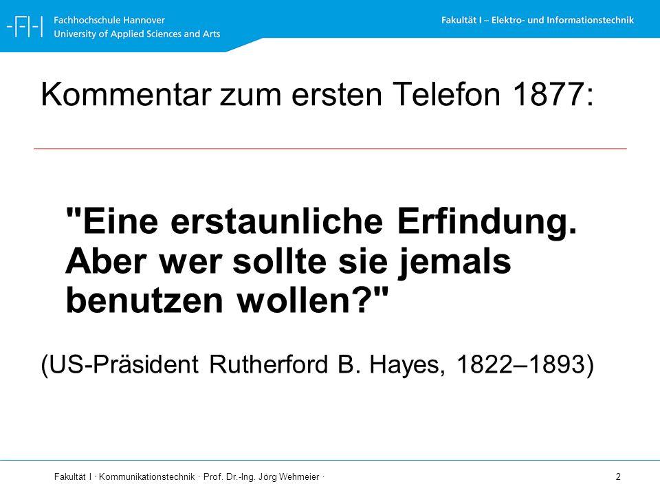 Kommentar zum ersten Telefon 1877: