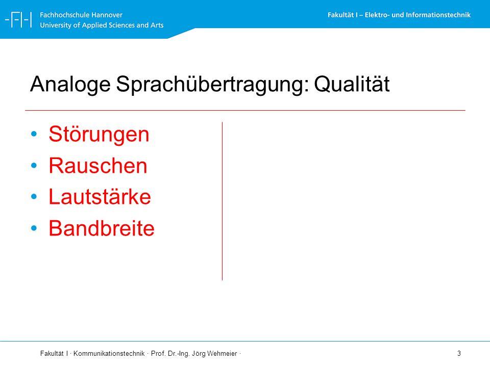 Analoge Sprachübertragung: Qualität