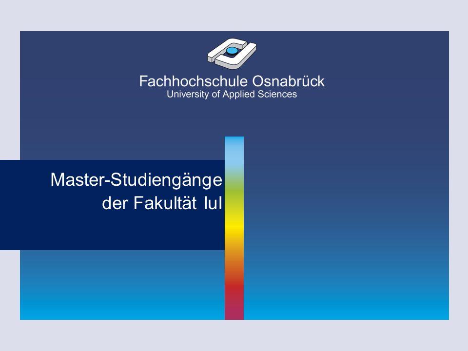 Master-Studiengänge der Fakultät IuI