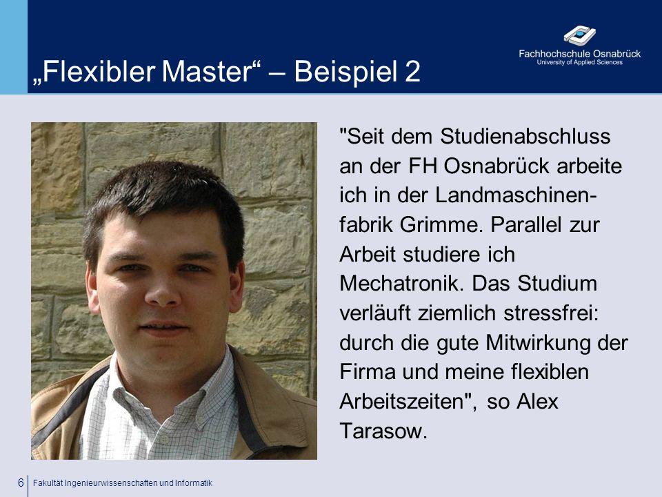 """""""Flexibler Master – Beispiel 2"""