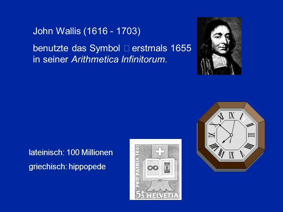 benutzte das Symbol ¥ erstmals 1655 in seiner Arithmetica Infinitorum.