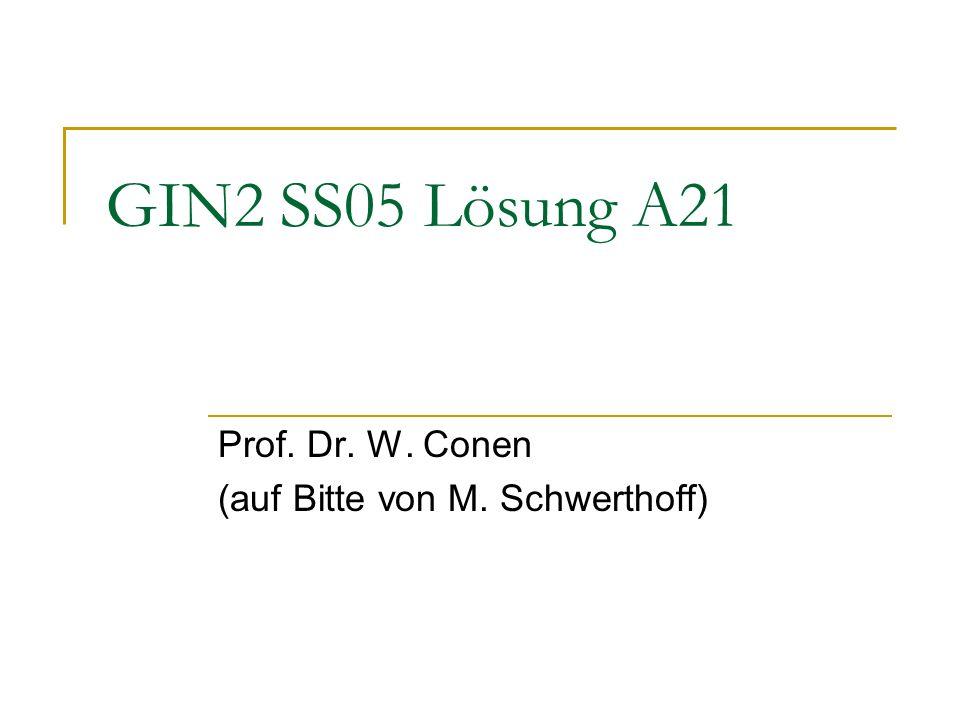 Prof. Dr. W. Conen (auf Bitte von M. Schwerthoff)