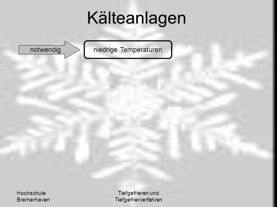 Kälteanlagen notwendig niedrige Temperaturen Hochschule Bremerhaven
