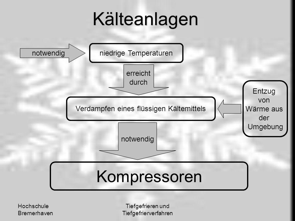 Kälteanlagen Kompressoren notwendig niedrige Temperaturen erreicht