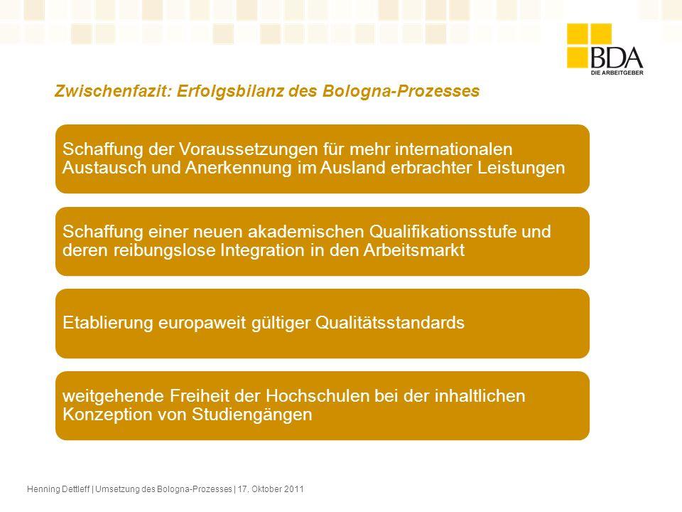 Zwischenfazit: Erfolgsbilanz des Bologna-Prozesses
