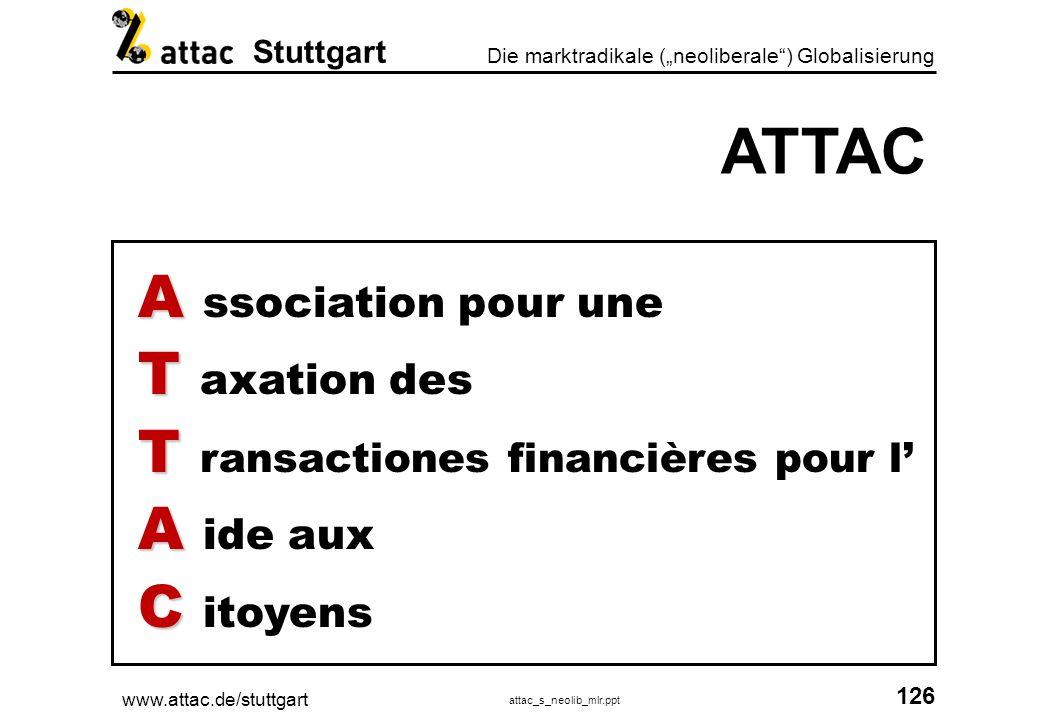 ATTAC A ssociation pour une T axation des
