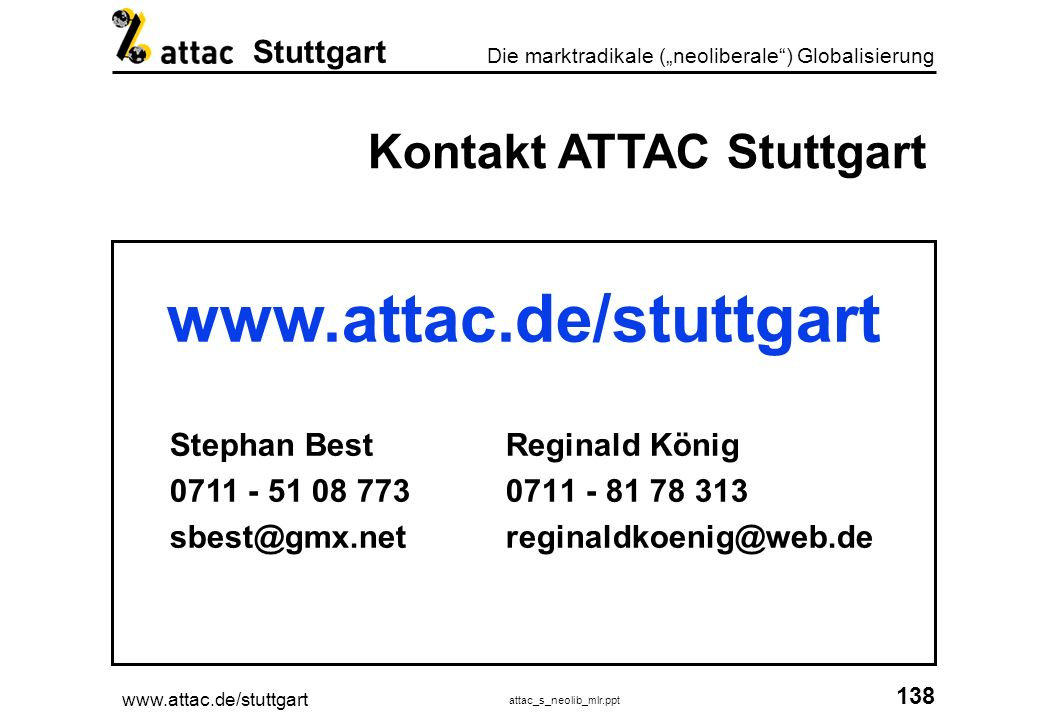 Kontakt ATTAC Stuttgart Stephan Best