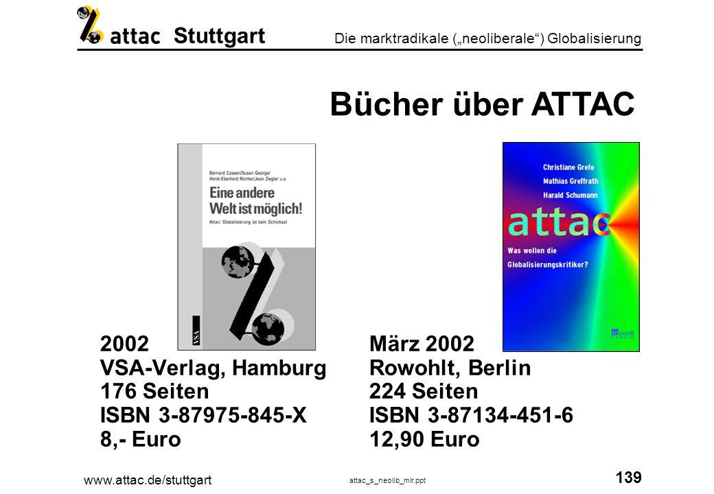 Bücher über ATTAC 2002 VSA-Verlag, Hamburg 176 Seiten