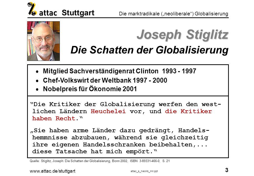 Joseph Stiglitz Die Schatten der Globalisierung