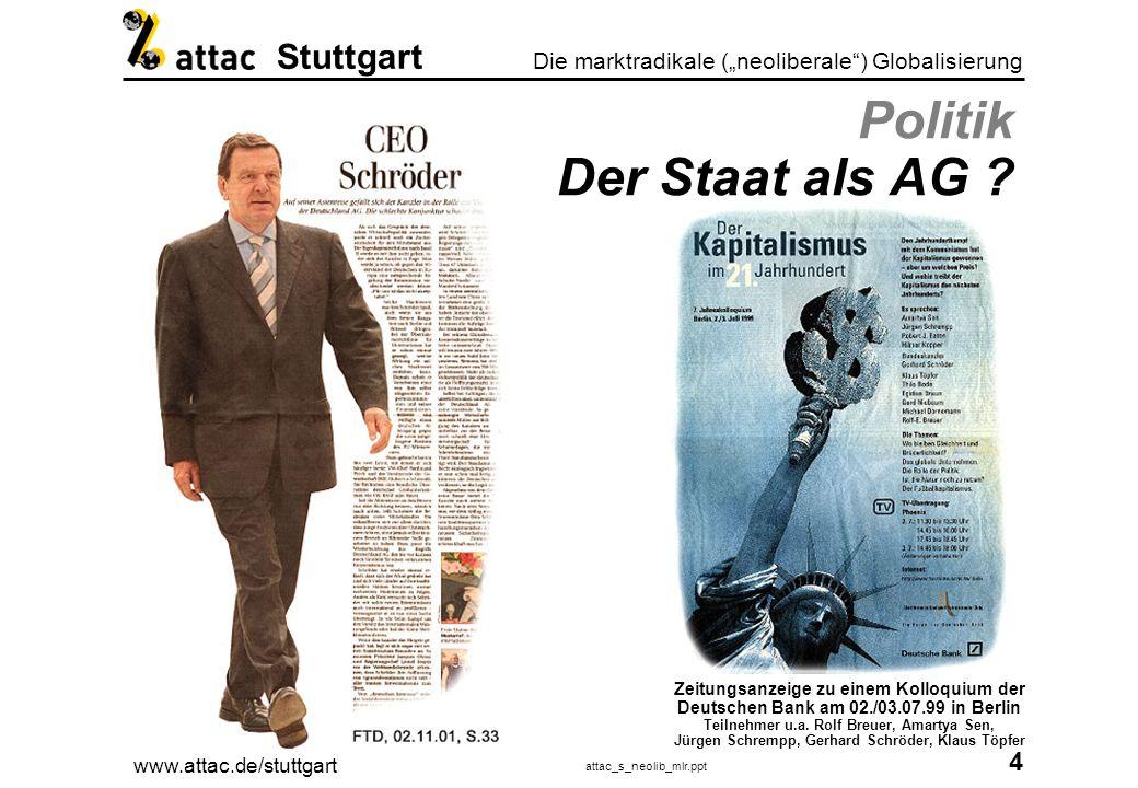 Politik Der Staat als AG