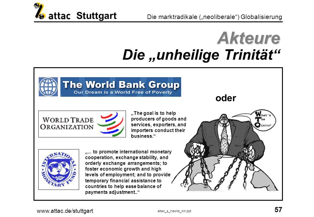 """Akteure Die """"unheilige Trinität"""