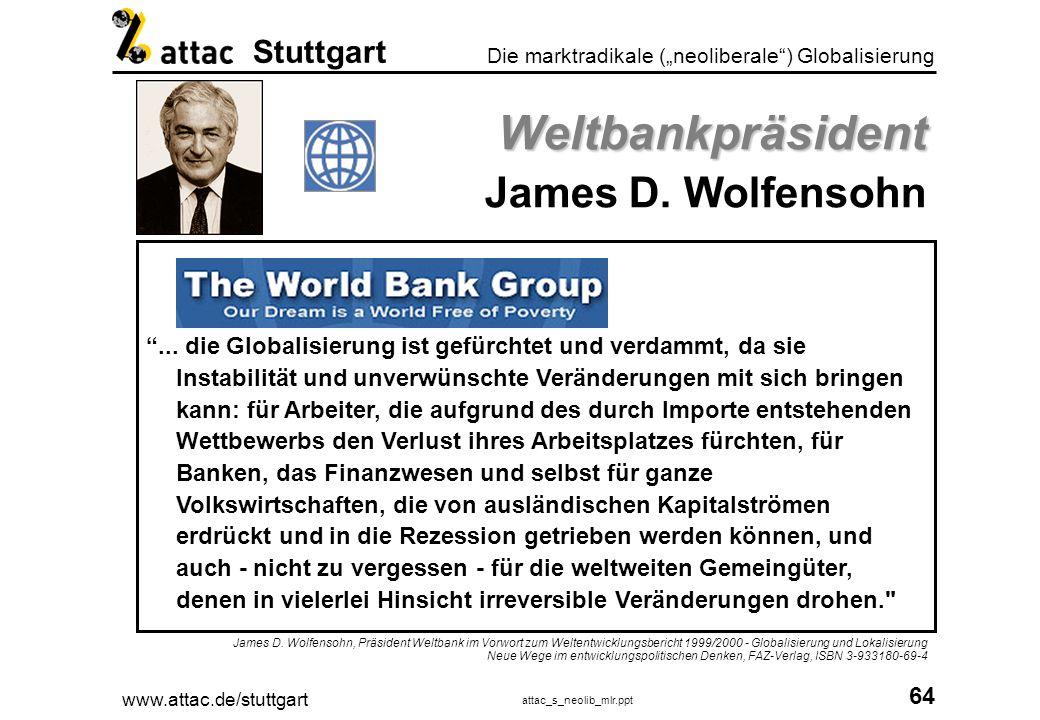 Weltbankpräsident James D. Wolfensohn