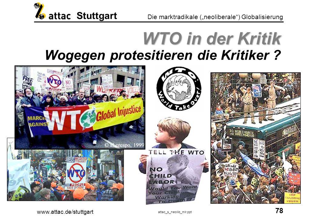 WTO in der Kritik Wogegen protesitieren die Kritiker