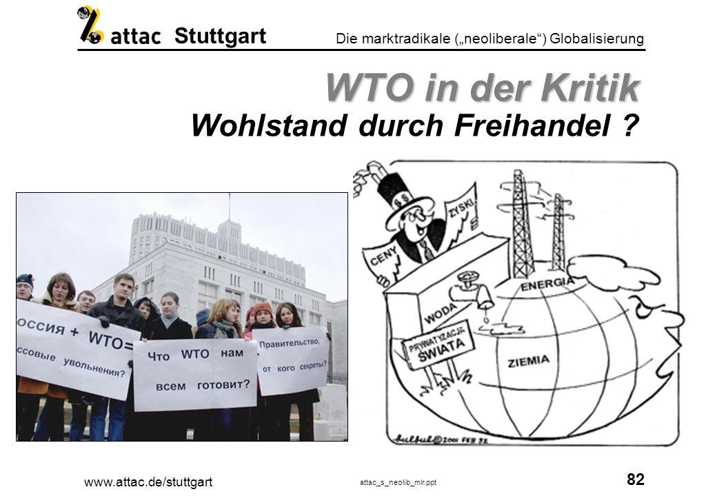 WTO in der Kritik Wohlstand durch Freihandel