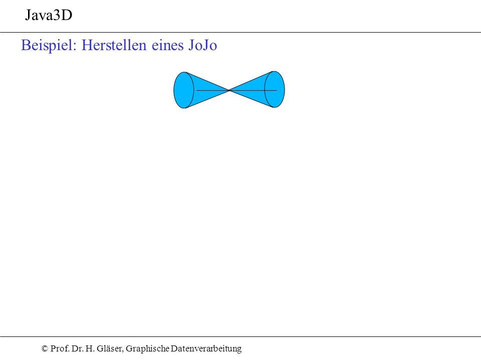 Java3D Beispiel: Herstellen eines JoJo