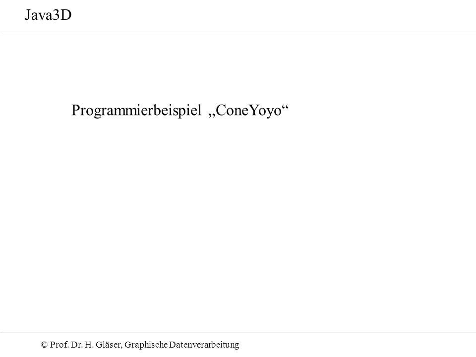 """Java3D Programmierbeispiel """"ConeYoyo"""