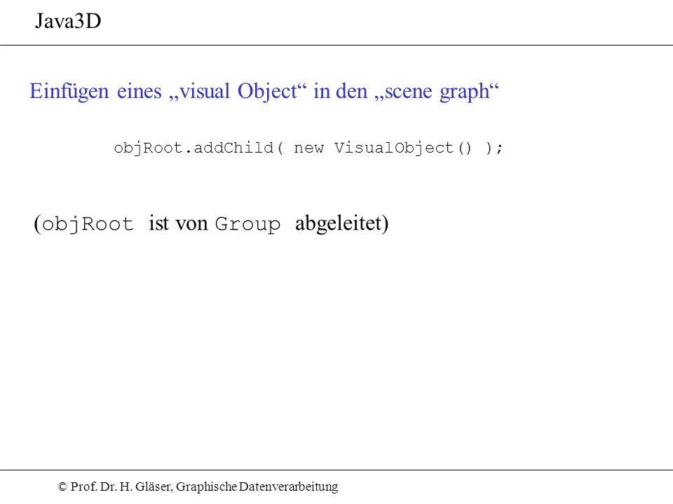 """Einfügen eines """"visual Object in den """"scene graph"""