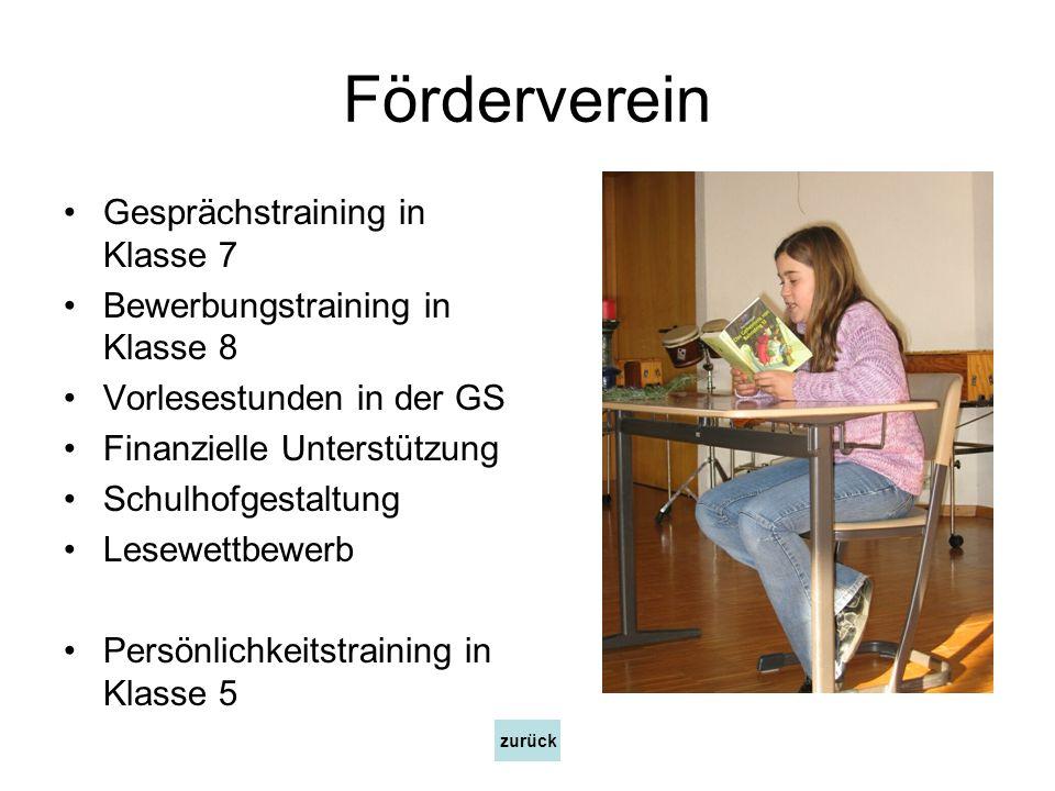 Förderverein Gesprächstraining in Klasse 7
