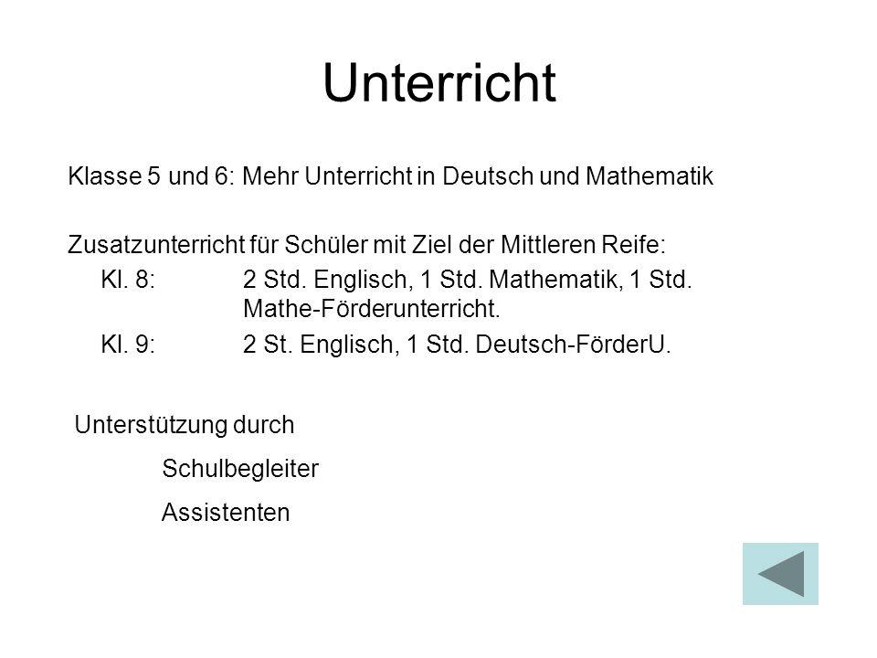 Unterricht Klasse 5 und 6: Mehr Unterricht in Deutsch und Mathematik